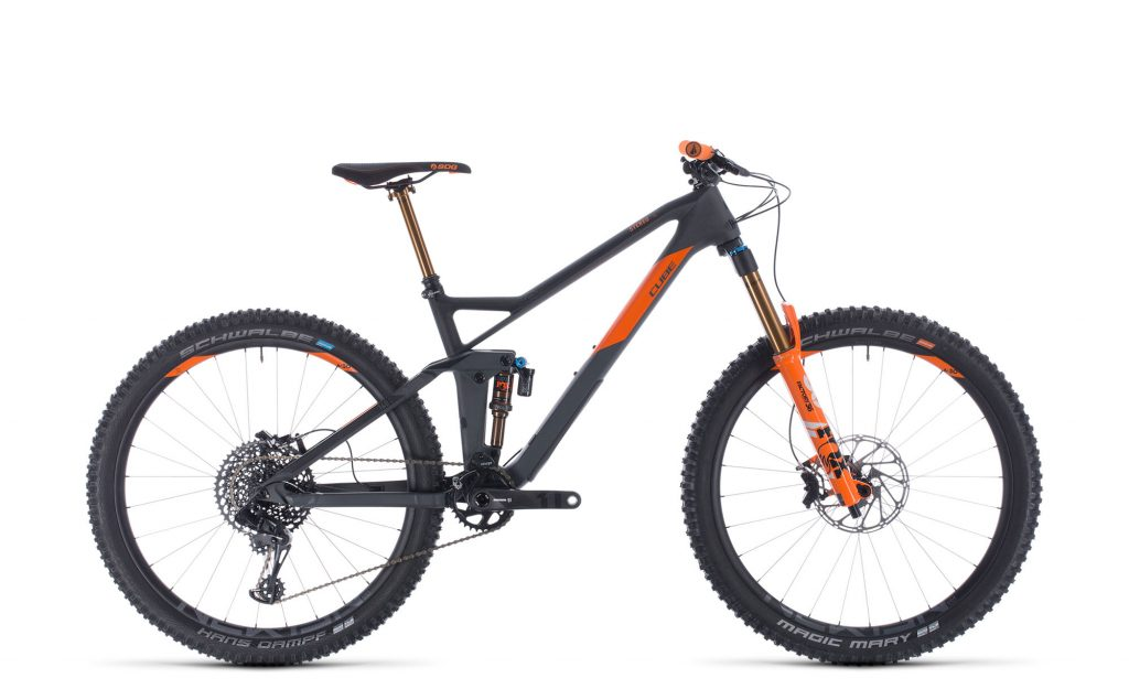 Cube Stereo 140 HPC TM 27.5 grey´n´orange 2020